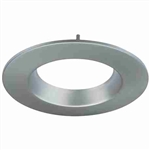 "CyberTech 6"" Recessed Light Round Trim in Satin Nickel"