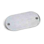 Lew Electric 803A Floor Box Blank Nozzle Cover, Oval - Aluminum