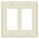 Value Brand 2 Gang Decorator/GFCI-Standard Size-Almond