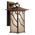 Kichler 9031DCO Outdoor Light, Arts and Crafts/Mission Wall Mount 1 Light Fixture - Distressed Copper