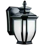 Kichler 9039BK Outdoor Light, Transitional Wall Mount 1 Light Fixture - Black (Painted)