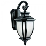 Kichler 9040BK Outdoor Light, Transitional Wall Mount 1 Light Fixture - Black (Painted)xture - Aged Bronze