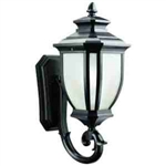Kichler 9041BK Outdoor Light, Transitional Wall Mount 1 Light Fixture - Black (Painted) (Open Box Item)