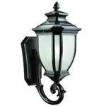 Kichler 9042BK Outdoor Light, Transitional Wall Mount 1 Light Fixture - Black (Painted)
