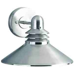 Kichler 9044NI Outdoor Light, Hard Contemporary Wall 1 Light Fixture - Brushed Nickel (Open Box Item)