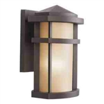 Kichler 9166AZ Outdoor Light, Soft Contemporary/Casual Lifestyle Wall Bracket 1 Light Fixture - Architectural Bronze