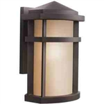 Kichler 9167AZ Outdoor Light, Soft Contemporary/Casual Lifestyle Wall Bracket 1 Light Fixture - Architectural Bronze