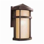 Kichler 9168AZ Outdoor Light, Soft Contemporary/Casual Lifestyle Wall Bracket 1 Light Fixture - Architectural Bronze