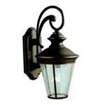 Kichler 9347OZ Outdoor Light, Classic (Formal Traditional) Wall 1 Light Fixture - Olde Bronze