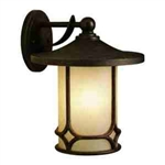 Kichler 9367AGZ Outdoor Light, Arts and Crafts/Mission Wall 1 Light Fixture - Aged Bronze