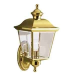 Kichler 9409PB Outdoor Light, Transitional Wall 1 Light Fixture - Polished Brass