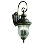 Kichler 9452OZ Outdoor Light, Classic (Formal Traditional) Wall 3 Light Fixture - Olde Bronze