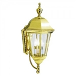 Kichler 9489PB Outdoor Light, Transitional Wall 3 Light Fixture - Polished Brass