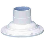 Kichler 9530WH Outdoor Light, Utilitarian Accessory Pedestal Adaptor Fixture - White