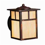 Kichler 9649CV Outdoor Light, Arts and Crafts/Mission Wall 1 Light Fixture - Canyon View