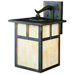 Kichler 9652CV Outdoor Light, Arts and Crafts/Mission Wall 1 Light Fixture - Canyon View