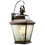 Kichler 9703OZ Outdoor Light, Classic (Formal Traditional) Wall 6 Light Fixture - Olde Bronze