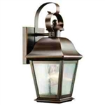 Kichler 9707OZ Outdoor Light, Classic (Formal Traditional) Wall 1 Light Fixture - Olde Bronze