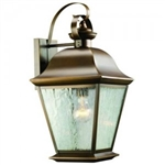 Kichler 9709OZ Outdoor Light, Classic (Formal Traditional) Wall 1 Light Fixture - Olde Bronze (Open Box Item)