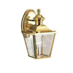 Kichler 9711PB Outdoor Light, Classic (Formal Traditional) Wall 1 Light Fixture - Polished Brass (Open Box Item)