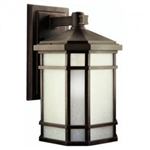 Kichler 9720PR Outdoor Light, Arts and Crafts/Mission Wall Mount 1 Light Fixture - Prairie Rock