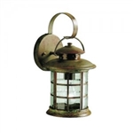 Kichler 9760RST Outdoor Light, Transitional Wall 1 Light Fixture - Rustic