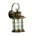 Kichler 9761RST Outdoor Light, Transitional Wall 1 Light Fixture - Rustic