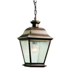 Kichler 9809OZ Outdoor Light, Classic (Formal Traditional) Pendant 1 Light Fixture - Olde Bronze