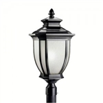 Kichler 9940BK Outdoor Light, Transitional Post Mount 1 Light Fixture - Black (Painted)