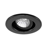 "Ark Lighting 2"" Low Voltage Trim with Recessed Gimbal Ring-Black"