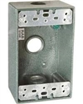 "B3Vg Weatherproof Single Outlet 3 Hole Box 1/2"" Verde Green"