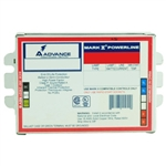 Advance Mark 10 Powerline REZ-2T42M3-LD-35M 120 Volt - Dimming - Programmed Start - Ballast Factor 1.0 - Power Factor 90% - Min. Temp. Rating 50 Deg. F - Operates (2) 42 Watt Compact Fluorescent Lamps