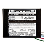 Hatch Mini MC70-1J-120U 70 Watt - 120 Volt - Electronic Metal Halide Ballast - ANSI MC98/MC139/MC143 - Bottom Feed Mounting With Studs