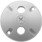 C103W Weatherproof Cover Round 3 Holes White