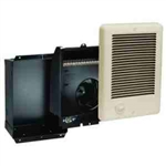 Cadet CSC102TA Wall Heater, 1000W 240/208V Com-Pak Heater Assembly w/Wall Can, Grill & Thermostat - Almond
