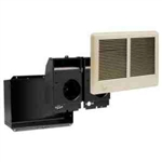 Cadet CSTC402TA Wall Heater, 4000W 240/208V Com-Pak Twin Heater Assembly w/Wall Can, Grill & Thermostat - Almond