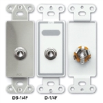 "Lew Electric D-1/4F Phone Jack, 1/4"" - White"