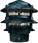 Dabmar D5000-B  Cast Aluminum Three Tier Pagoda Light Black