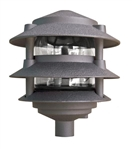 Dabmar D5000-BZ Cast Aluminum Three Tier Pagoda Light Bronze