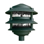 Dabmar D5000-G Cast Aluminum Three Tier Pagoda Light Green