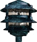 Dabmar D5000-VG Cast Aluminum Three Tier Pagoda Light Verde Green