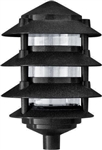 Dabmar D5100-B  Cast Aluminum Four Tier Pagoda Light Black