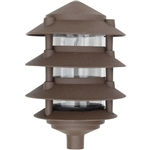 Dabmar D5100-BZ Cast Aluminum Four Tier Pagoda Light Bronze