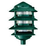 Dabmar D5100-G Cast Aluminum Four Tier Pagoda Light Green