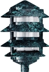 Dabmar D5100-VG Cast Aluminum Four Tier Pagoda Light Verde Green