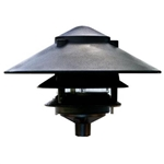 Dabmar D5300-B  Cast Aluminum Three Tier Pagoda Light Black