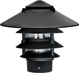 "Dabmar D5400-B  Cast Aluminum Four Tier Pagoda Light with 3.00"" Base Black"