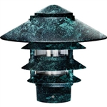 "Dabmar D5400-VG Cast Aluminum Four Tier Pagoda Light with 3.00"" Base Verde Green"
