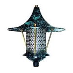 Dabmar D8000-VG Cast Aluminum Flair Top Pagoda Light Verde Green