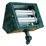 Dabmar DF5650-VG Solid Brass Area Flood Light Verde Green